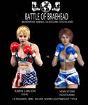 KO Kitten vs Vera Stone Poster by bx2000b
