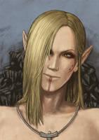 portrait of bosmer by Janiko-neko-chan