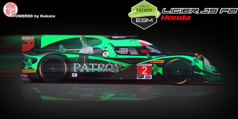 Tequila Patron ESM Ligier JS P2 Honda by kakazuracing