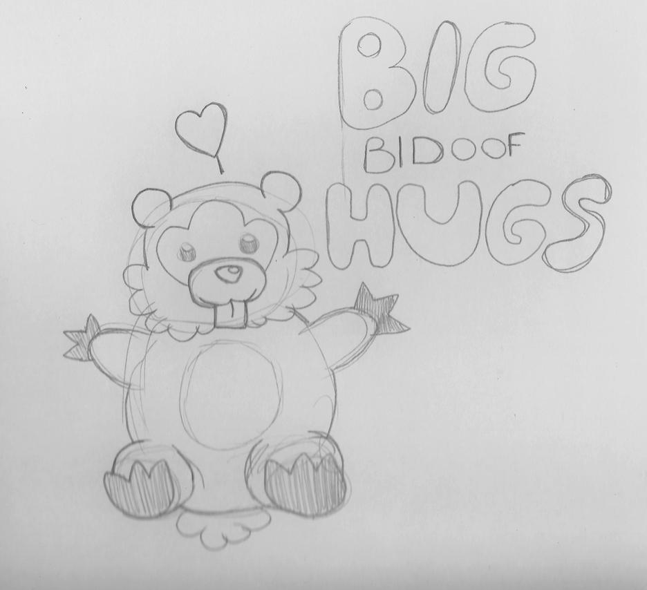 Sketchy Sunday : Big Bidoof Hugs by jimsupreme