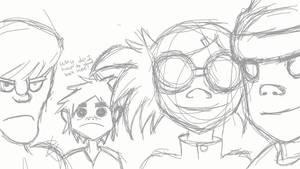 Gorillaz Sketch