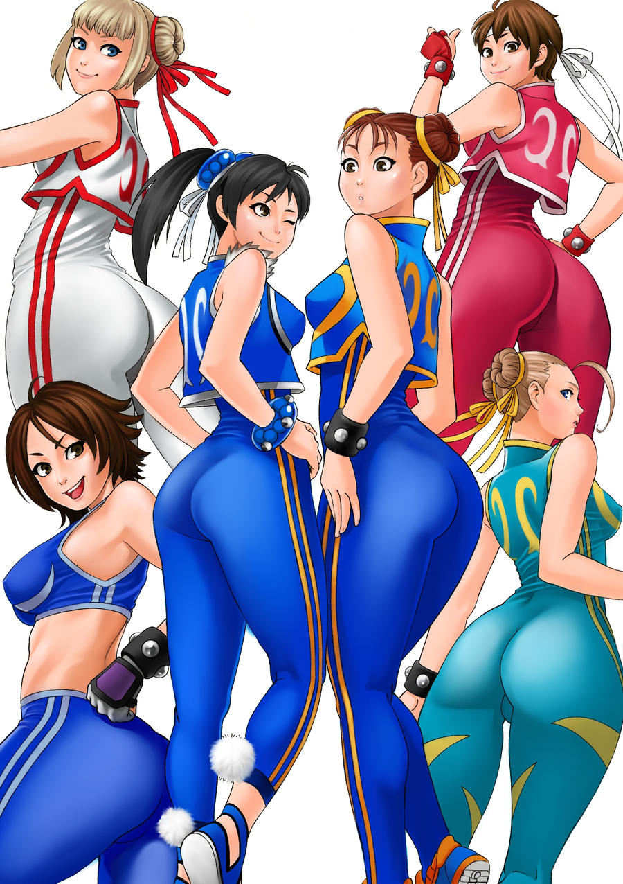 Street Fighter and Tekken Girls by solid-zonda