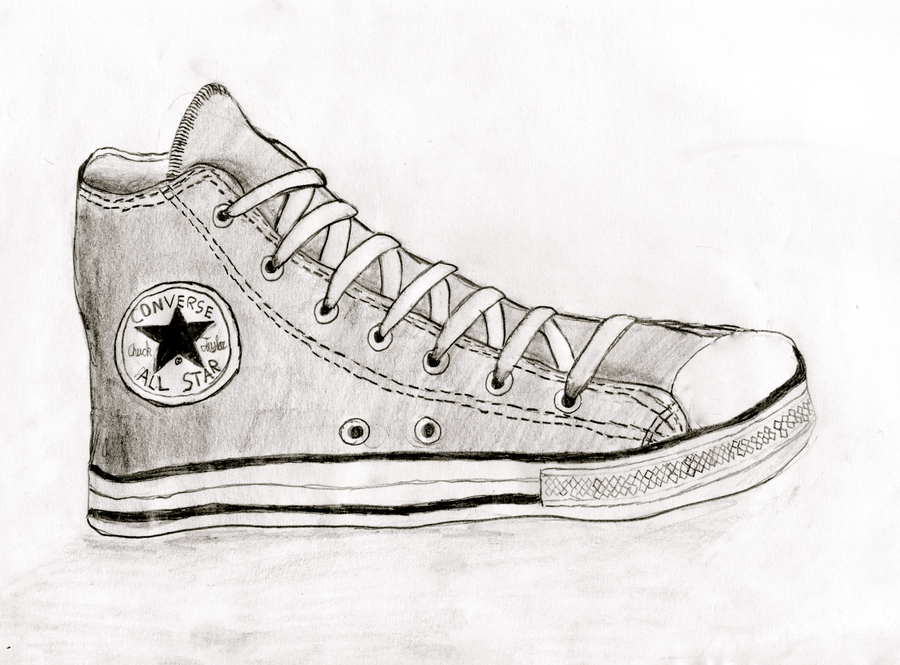 Easy Converse Shoe Drawing