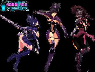 Dimensional Ninjas for Soda Pop Miniatures