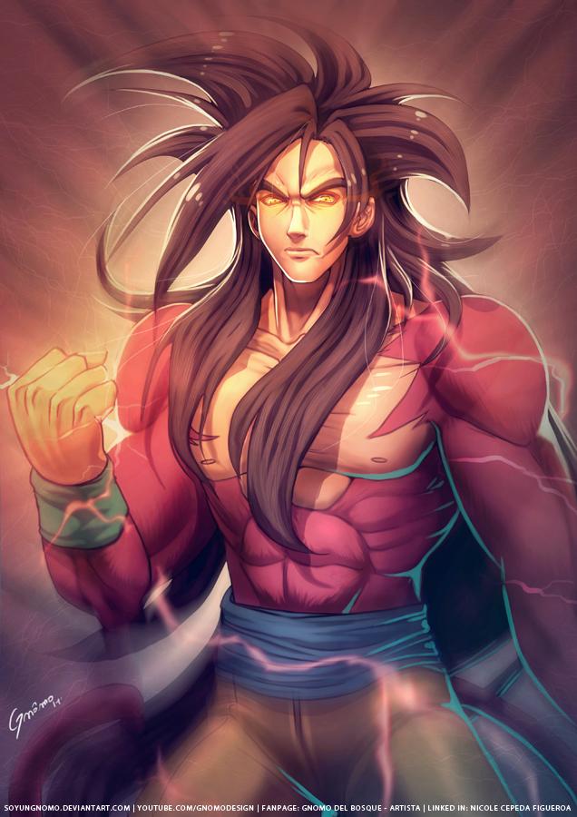 Goku Super Saiyan Level 4 by SoyUnGnomo on DeviantArt