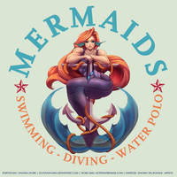 COMMISSION: Mermaids - Swimming Club Logo