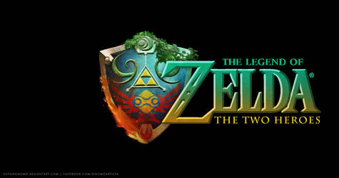 The Legend of Zelda The Two Heroes Logo by DasGnomo