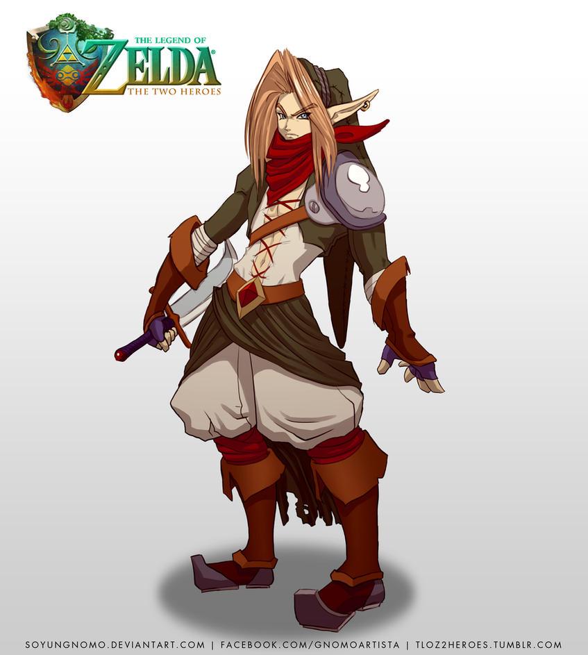 TLOZ The Two Heroes Gerudo Thief Link Concept by SoyUnGnomo