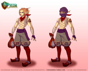 TLOZ Two heroes Link in Gerudo Thief clothes by DasGnomo
