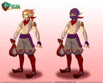 TLOZ Two heroes Link in Gerudo Thief clothes