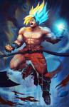 Goku transformation from Legend to God