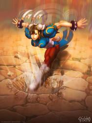 Chun Li - Hazanshu Kick by DasGnomo