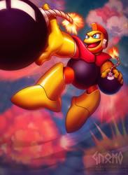 Hyperbomb - Megaman - Capcom by DasGnomo