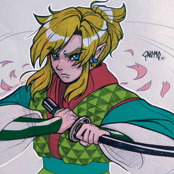 Kimetsu No Yaiba - Link doodle by DasGnomo