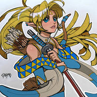Kimetsu No Yaiba - Zelda doodle