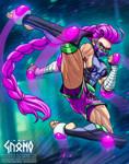 [BNHA] Magenta Rage - Action Pose - OC