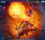 Dhalsim Yoga Fire - Street Fighter - Official
