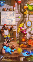 DKC3 - Funky's Rental Shop - Commission