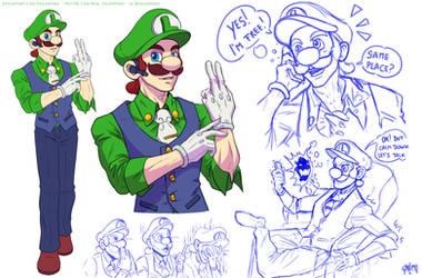 CEO Luigi - Quick concept by DasGnomo
