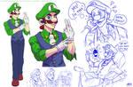 CEO Luigi - Concept - Mushroom Kingdom AU