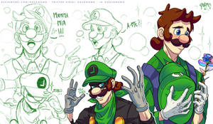 CEO Luigi and Mr L sheet - Mushroom Kingdom AU
