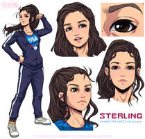 Commission - Sterling Character Sheet