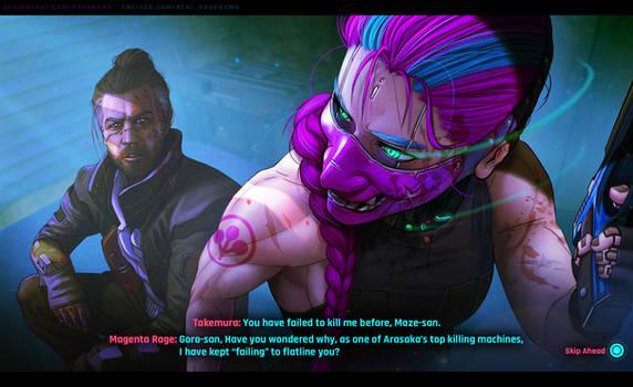 Goro and Magenta P1 - Cyberpunk 2077 AU