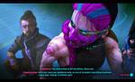 Goro and Magenta P1 - Cyberpunk 2077 AU by DasGnomo