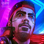 Jeremy Cyberpunk Portrait - Commission by DasGnomo