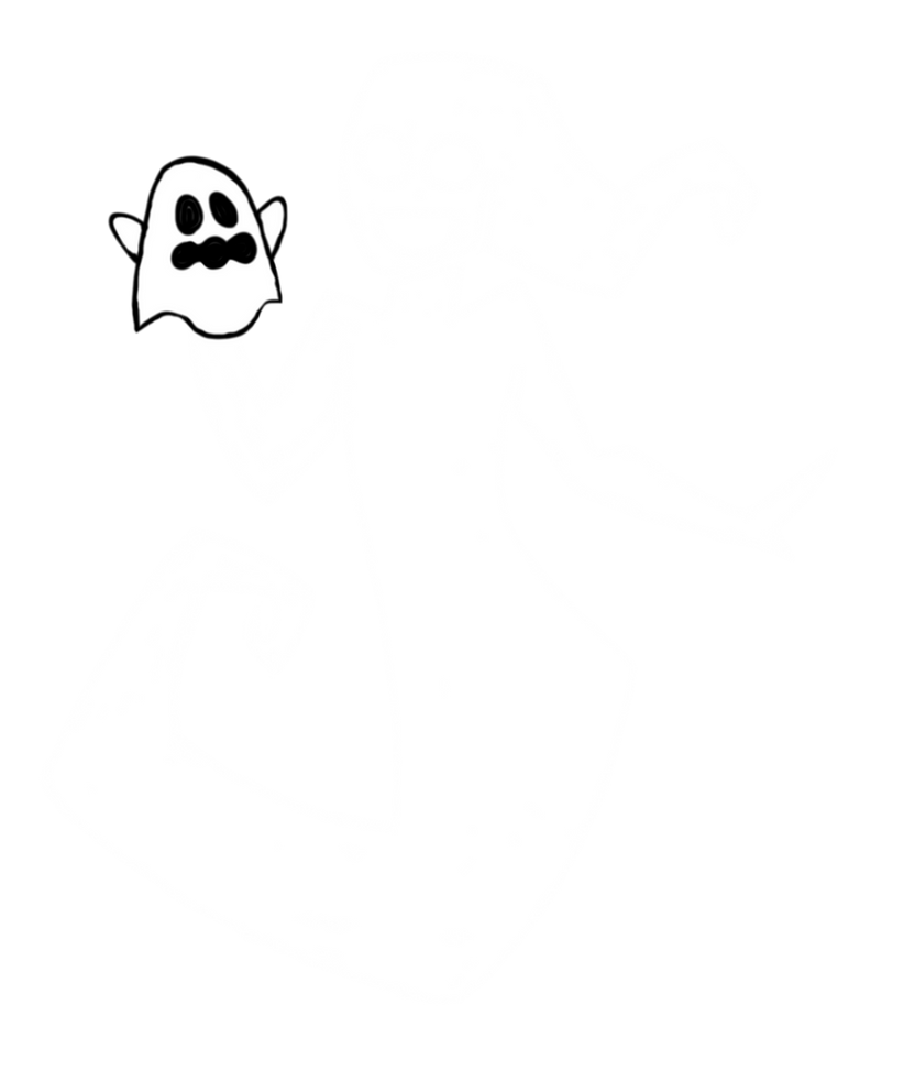 Drawlloween Day 1: Ghost by SolrSurfr3