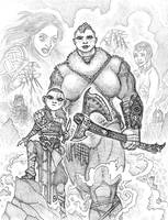 Goddess of War: Atrea and Katy by JoeEngland