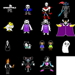 UNDERTALE colored sprite collection