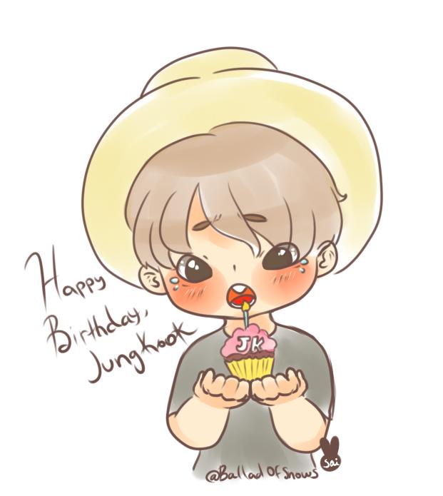 Happy JUNGKOOK BDay CHIBI- September 1 by XHolyKnightAgrias