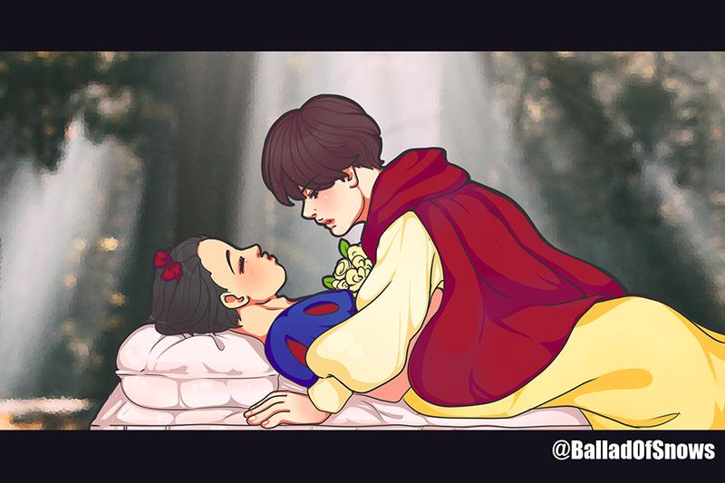 vixx N and Hyuk - Snow white Kiss - StarlightSquad by XHolyKnightAgrias