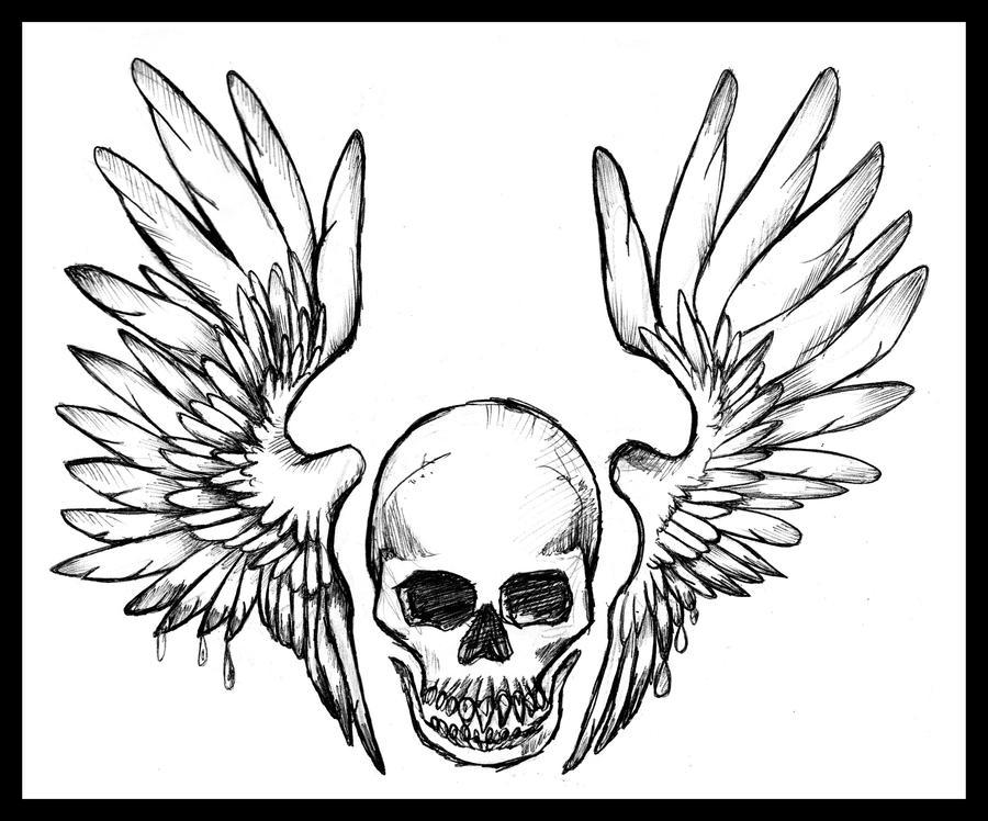 b2f45f8f1 Tattoo Wings Skull By Fortuna15 Deviantart – Dibujos Para Colorear