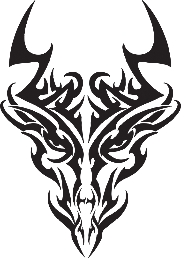 tribal dragon head by liren on deviantart. Black Bedroom Furniture Sets. Home Design Ideas