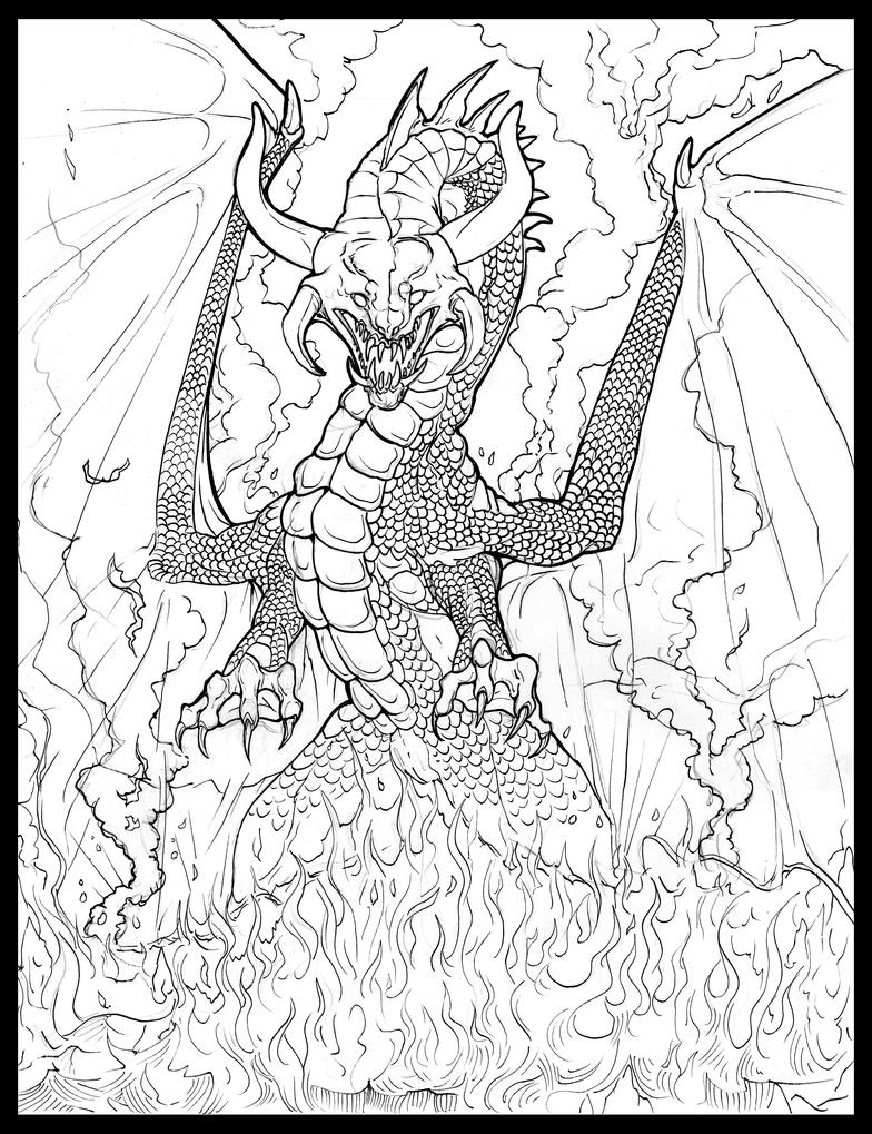 fierce dragons coloring pages contegri com