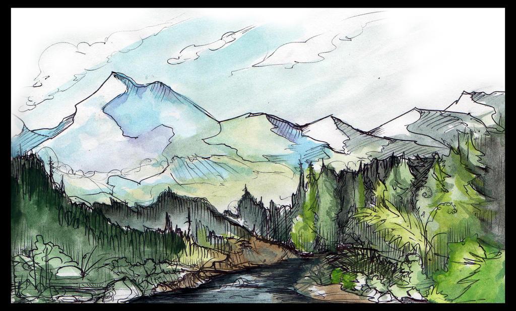 Quick sketch - Landscape by Liren