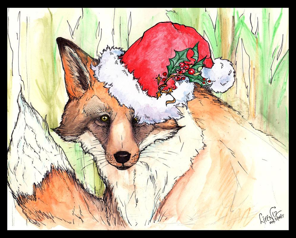 Fox Christmas Card V1 by Liren