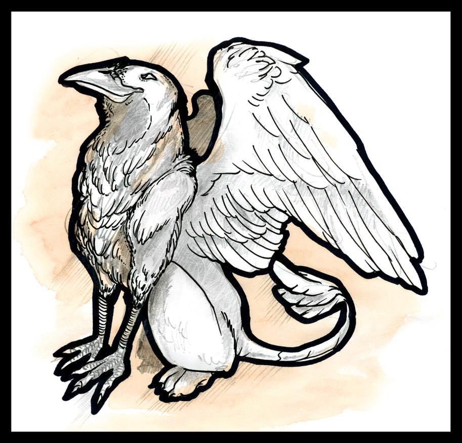 Raven Griffon by Liren
