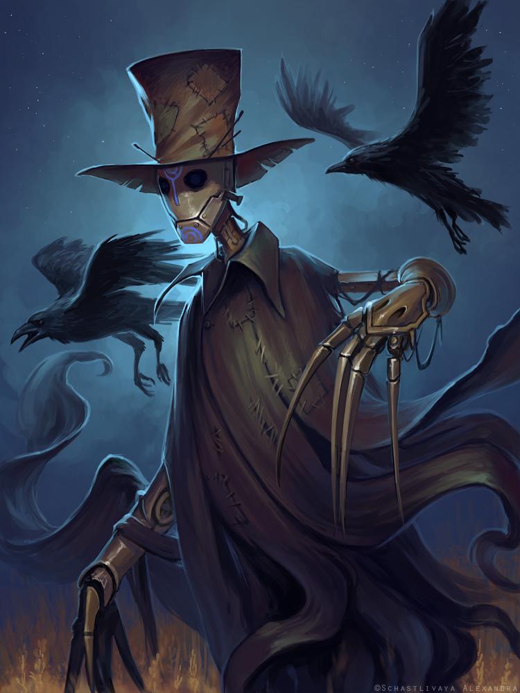 Jenkin the scarecrow by schastlivaya-ch