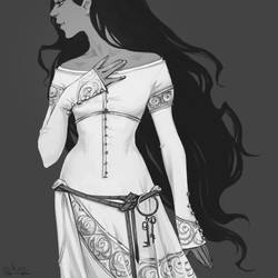 Medieval dress by schastlivaya-ch