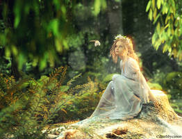 Dianthe in the Garden by deathbycanon