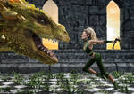 Angry Elf Laughing Dragon by deathbycanon