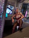 Compact Cyberpunk Apartment