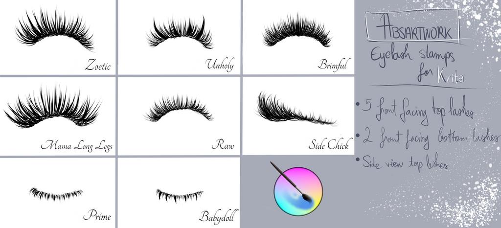 Eyelash Brushes For Krita By Absartwork On Deviantart
