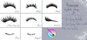 Eyelash brushes for Krita by absartwork