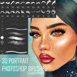 30 Portrait Photoshop Brushes by absartwork
