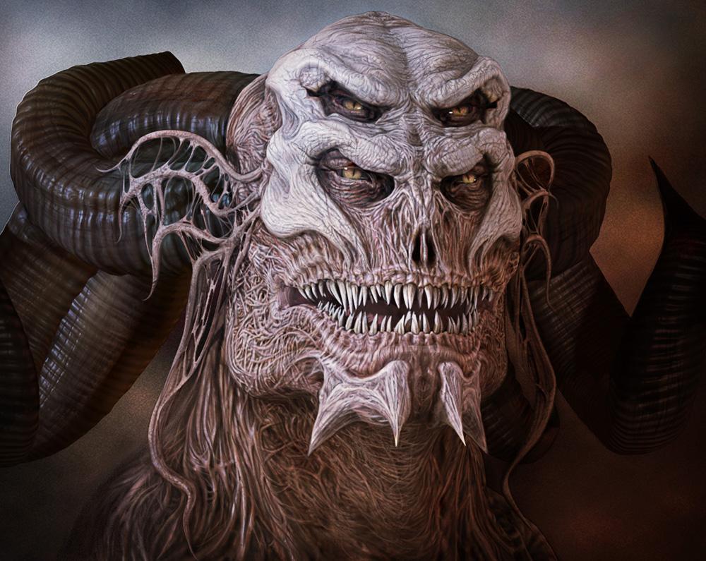 Portrait of the Demon Guard  Demons