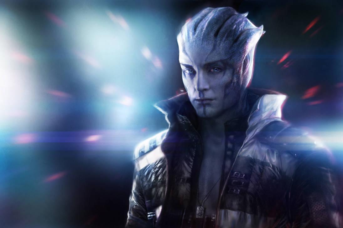 Mass Effect - Male Asari by kolakis